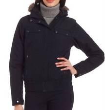 COLUMBIA Jacket Women sz SMALL Peak Drifter II Bomber Black Insulated Hooded 4 6