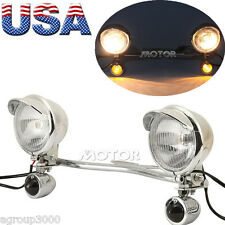 Driving Passing Turn Signal Spot Lights Bar for Harley FLHRC Road King Classic
