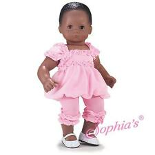 "Pink Bubble DRESS Ruffle LEGGINGS fits 15"" Twins Bitty Baby Doll American Girl"