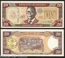 B-D-M Liberia 20 Dollars 2011 Pick  28g Without letters CBL SC UNC