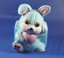 Vintage Lefton Ceramic Bunny Rabbit Rag Doll Figurine Planter