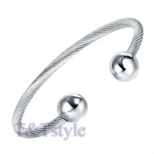 UNIQUE T/&T Stainless Steel Bracelet Silver BS12 NEW ARRIVAL