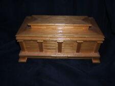 Caja de joyería de madera hecho a mano de fósforos