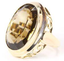 ♦ Rauchquarz Ring in 8 kt 333er Gelb Gold mit Rauchtopas Topas Damen Topasring ♦