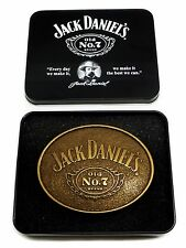 Jack Daniel`s Belt Buckle Old No.7 Antique Look Authentic Officially Licensed