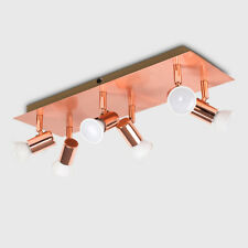 Contemporary Rose Gold 6 Way Adjustable Ceiling Spotlight Fitting Kitchen Lights