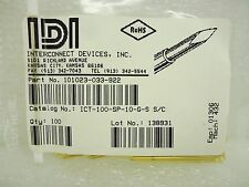 (NEW) Interconnect Devices 101023-033-9 Contact Probes .10 Ctr 3 AMP Probe