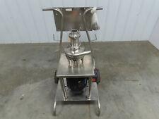 Tri-Clover F2116 Tri-Blender Stainless Pump Pipeline Powder Mixer Cart 3Hp 460V