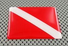 Scuba Dive Flag 3D Decal Sticker Diver Down Flag
