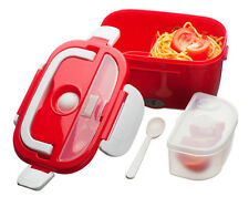 Red electric chauffée portable compact Alimentaire LUNCH BOX Bento plus chaud 40 W 1,5 L NOUVEAU UK