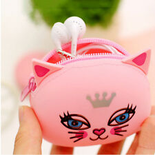 Super Cute Silicone Coin Purse Rubber Wallet Case Key Holder Earphone Storage CN