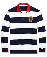 ***4XB***Polo Ralph Lauren Men's Stripe Iconic Rugby Classic Fit Polo Shirt
