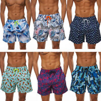 Men's Beach Board Shorts Swimming Surfing Trunks with Pockets Lined Cool Floral
