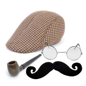 Old Man Grandad Novelty Costume Accessory Sets Flat Caps Fancy Dress