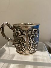 ANTIQUE  STERLING SILVER CUP MUG