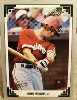JOHN MORRIS 2014 Memories 1991 Leaf Series 2 496 Buy Back Ruby Red SP #1/1 of 1