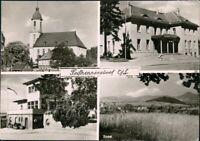 Ansichtskarte Seifhennersdorf Kirche, Theater, Gasthaus, Überblick 1961