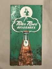 Very RARE Peter Piper Beverages Soda Pop Beverages Embossed Sign Advertising