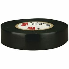 3M Temflex Vinyl Electrical Tape, 1700, 3/4 in x 60 ft, Black 1.5core (1-Roll)