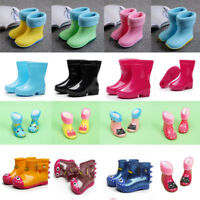 Infant Boy Girls Waterproof Rubber Non Slip Boots Baby Kids Children Rain Shoes