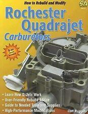 SA113 Quadrajet Rochester How to Rebuild & Modify Carb Carburetor Book Q-Jet