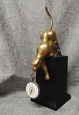 Pocket Watch Holder Stand ~ Brass Mountain Lion