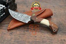 Damascus Steel skinner knife Hand forged knives Rosewood handle, skinning knife