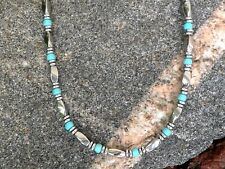 Silver Magnetic Hematite Men's Womans Bracelet Anklet Necklace w Chalk Turquoise