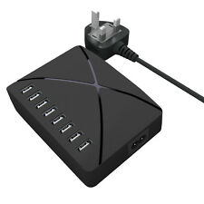8-way USB Charger Power Adapter Station Dock for Apple Samsung Microsoft and all