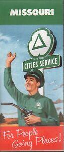 1960 Cities Service Road Map: Missouri NOS