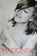 """MADONNA """"SOMETHING TO REMEMBER"""" U.S. PROMO POSTER - Tilted Head, Sexy Cleavage!"""