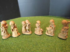 "Anri Ferrandiz Set of 6 Miniature 1-1/2"" Rare Figurines Woodcarving"