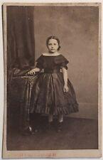 Fillette Photographe Paris Carte de visite Cdv Vintage Albumine c1860