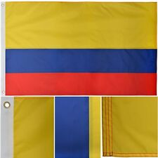 Colombia 3' x 5' Ft 210D Nylon Premium Outdoor Embroidered Colombian Flag