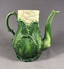 Exceptional 18th Century Staffordshire Cauliflower Creamware Pottery Coffee Pot