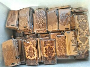 Bulk Wholesale Job lot of 50 x Mixed wooden Phone Covers