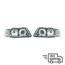 AUDI A3 2000 - 2003 Front Headlight Lamp PAIR (Left + Right) Manual Electric