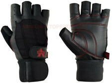 Valeo Ocelot Pro Lifter Plus Wrist Wrap Lifting Gloves - Black