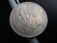 1868 Belgium Silver 5 Franc Coin Many Pics