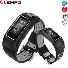 Lemfo Etanche Montre Intelligente GPS Podomètre Fitness Heart Rate Smart Watch