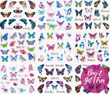 Nail Art Butterflies Stickers Water Decals Transfers Butterfly Summer Flowers