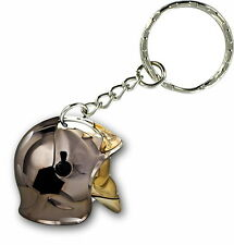Keychain key ring keyring car motorcycle firefighter helmet fire usa