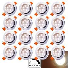 Einbaustrahler Deckenspots Lampe 20X 3W LED Einbauleuchte  Dimmbar Warmweiß 230V