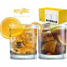 Set of 2 Acrylic Highball Drinking Glasses Plastic Tumblers 14 OZ BPA Free