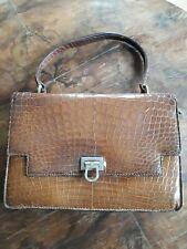 Handtasche Damen 50iger/60iger Jahre Gucci braun Kroko-Leder ? Vintage