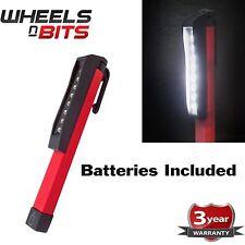 8 SMD LED Pocket Pen Torch Worklight Magnetic Inspection Lamp Flashlight Light
