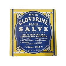 White Cloverine Petrolatum Salve-since 1860; Skin Protectant New In Box/Tin 1 oz