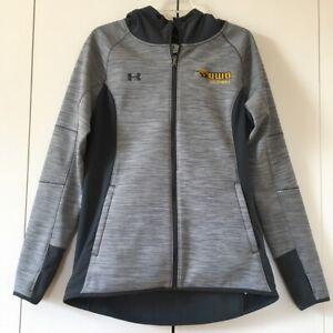 Under Armour Storm Swacket Full Zip Up Gray Hooded Fleece Jacket Women's Size M