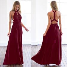 Women Long Maxi Dress Convertible Multi Way Wrap Formal Party Bridesmaid Dresses