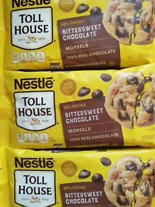 NESTLE~ Toll House Chips~ 62% Cacao / 100% Real Bittersweet Chocolate~ 10 oz bag